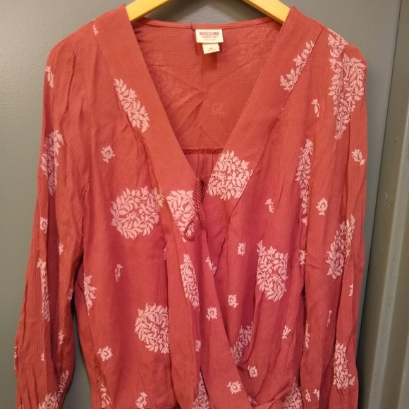 Mossimo Supply Co. Tops - Mossimo Faux Wrap Blouse
